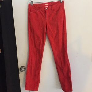 J crew red orange cords size 29 skinny matchstick
